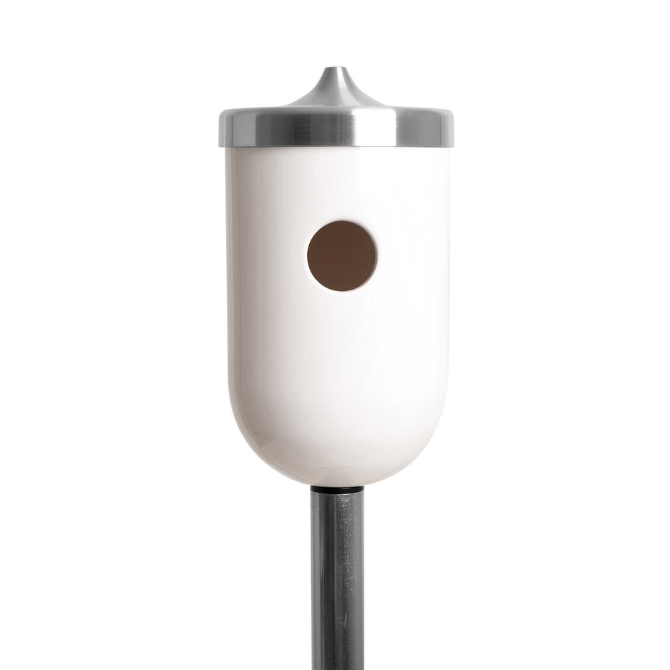 J Schatz Bright White Nut Bird House