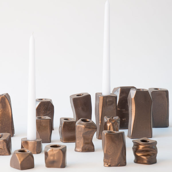 Candle Holders in Bronze