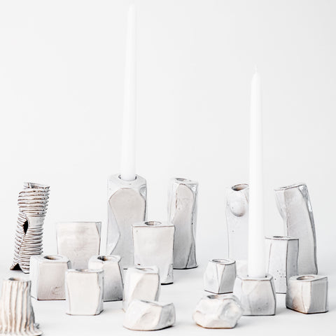 Candle Holders in White