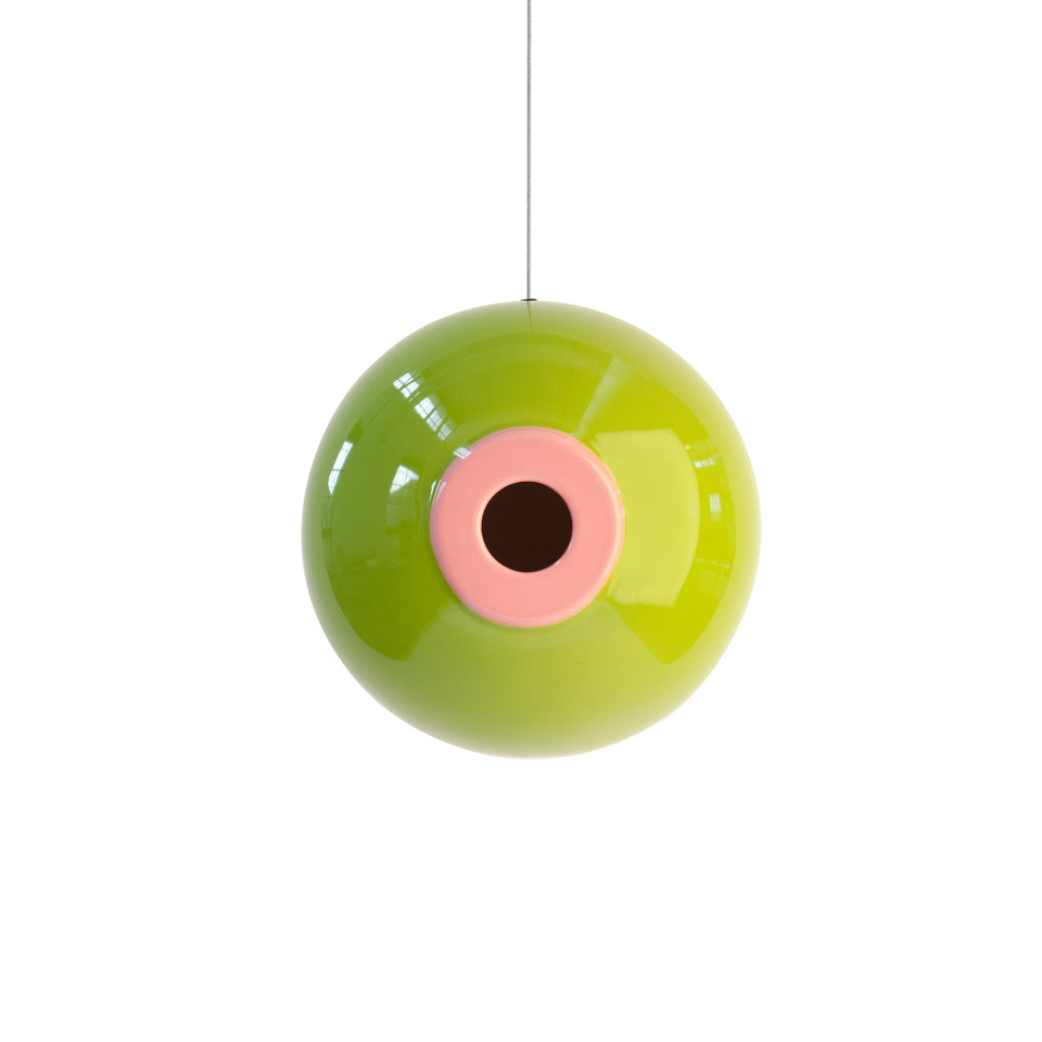 Orb Bird House in Olive