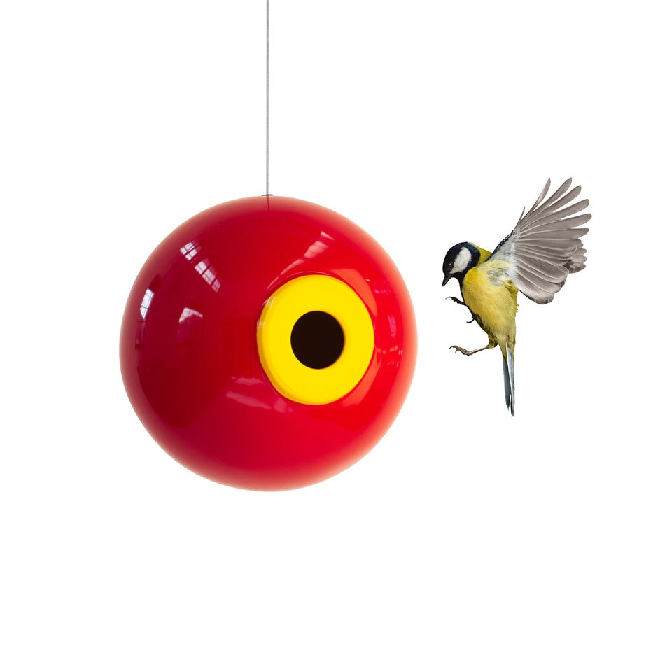 Orb Bird House in Sumac Red