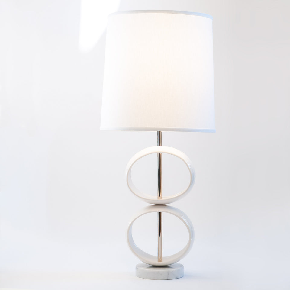 Double Orb Table Lamp