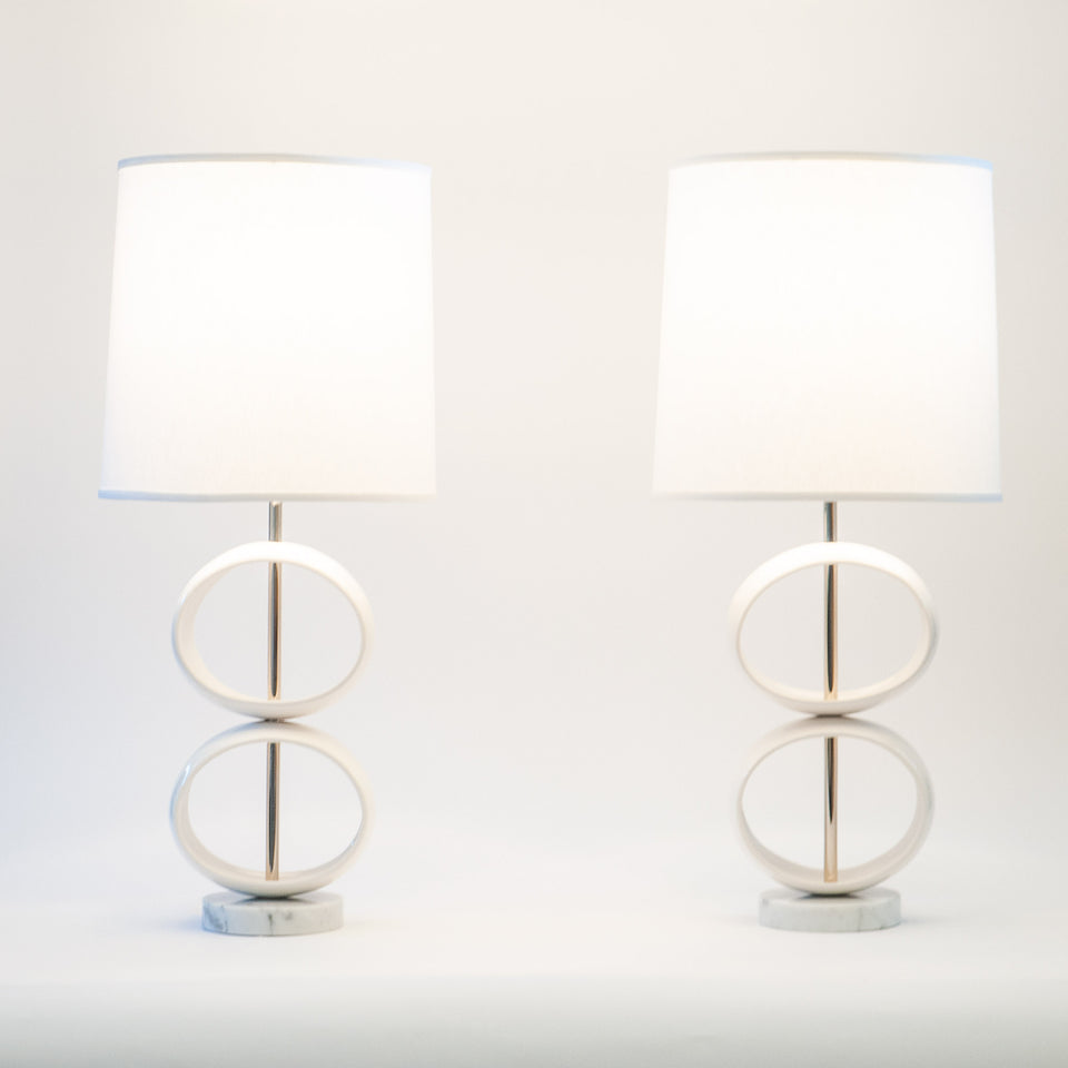 Double Orb Table Lamps