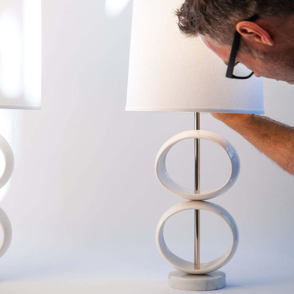 Double Orb Table Lamp Detail 4