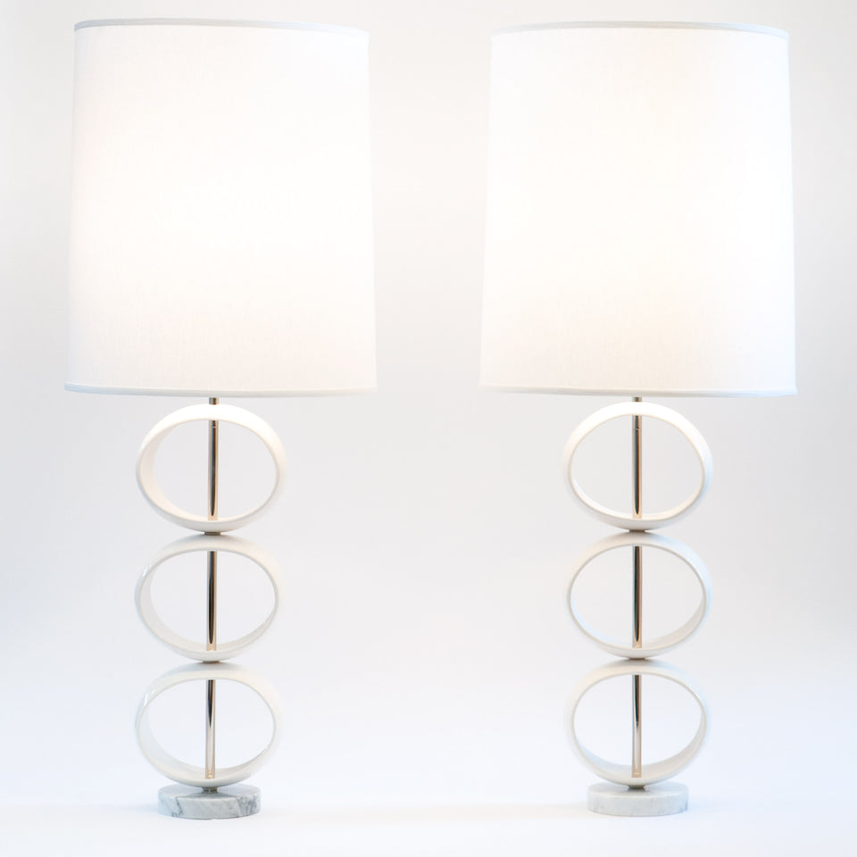 Triple Orb Table Lamps