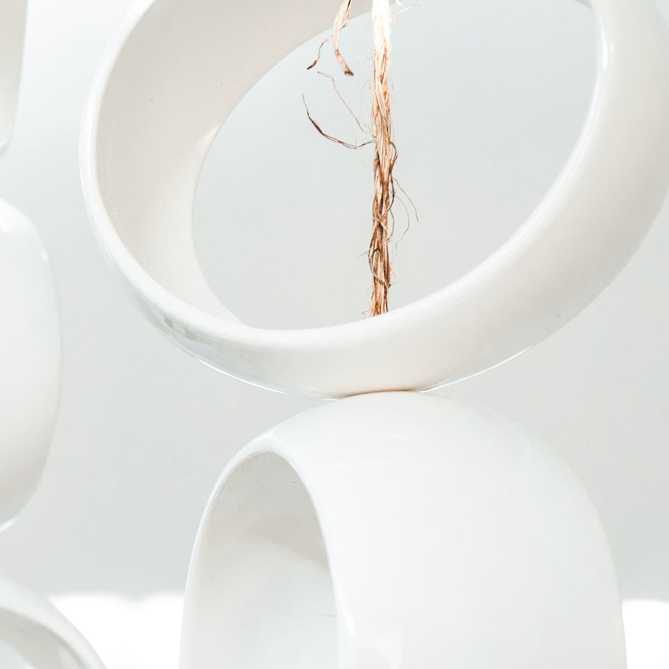 White Orb Sculpture Detail 4