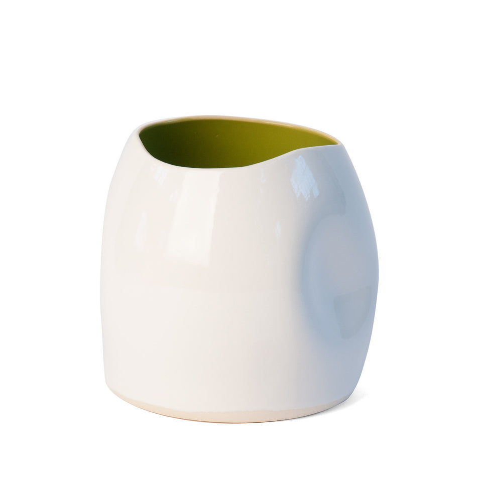 Out of Shape Vase - Olive