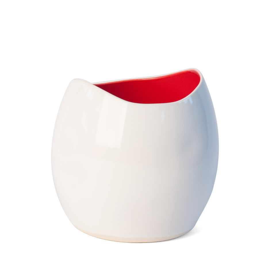 Out of Shape Vase - Red Hot