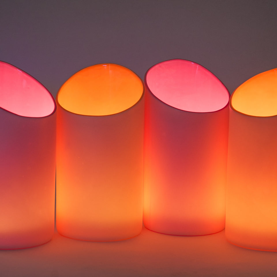 Orange Peel and Pink Porcelana Uplights