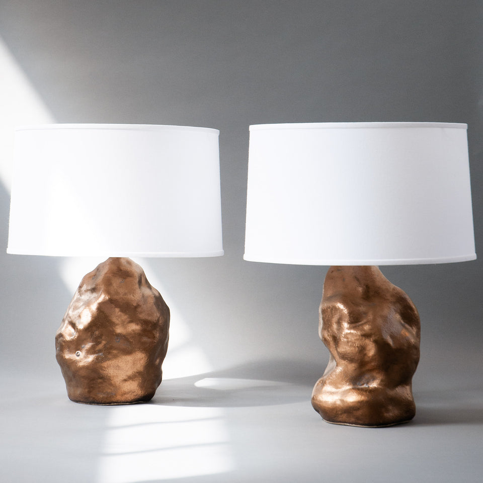 Bronze Amorphous Lamp Pair