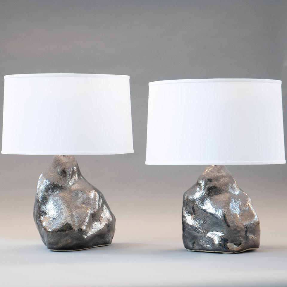 Platinum Amorphous Lamp Pair