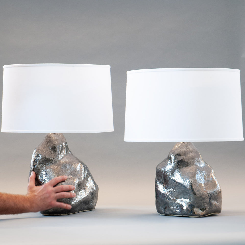 Platinum Amorphous Lamp Pair Detail 2