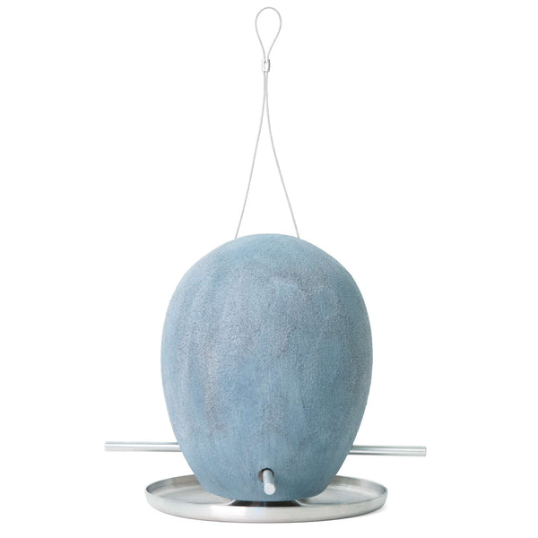 One Of A Kind Egg Bird Feeder in Blue Pumic