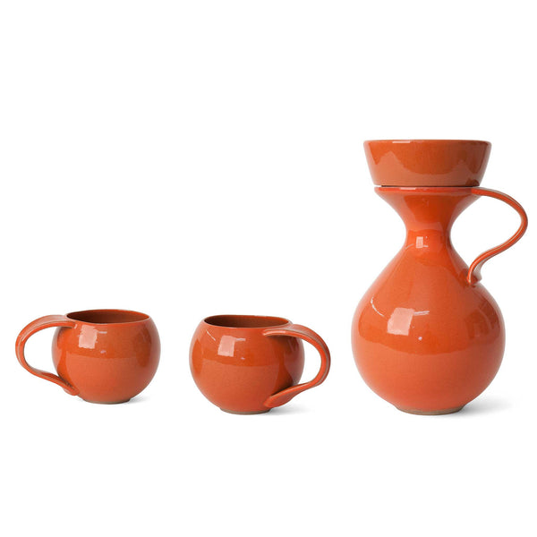 J Schatz Fire Orange Tea Maker Set