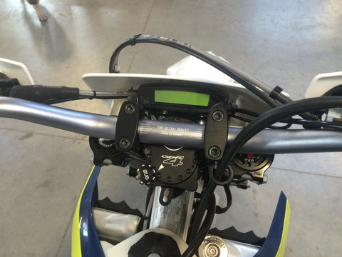2016 Husqvarna computer relocation on Flexx Handlebars.