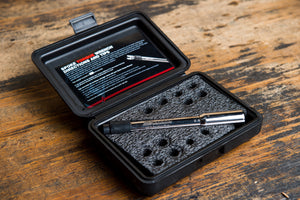 Every Fasst Company Spoke Torque Wrench comes in a blow molded case.