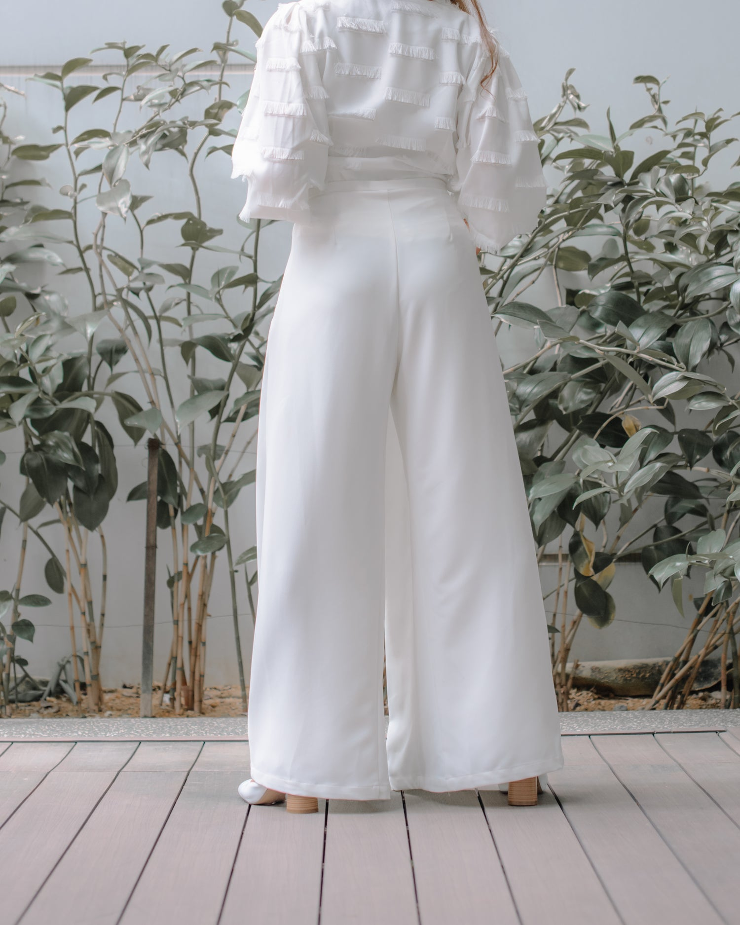 Wilma Pleated Trousers in White