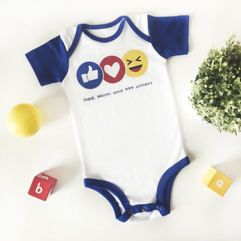 Bodysuit FB Like  3-12 m