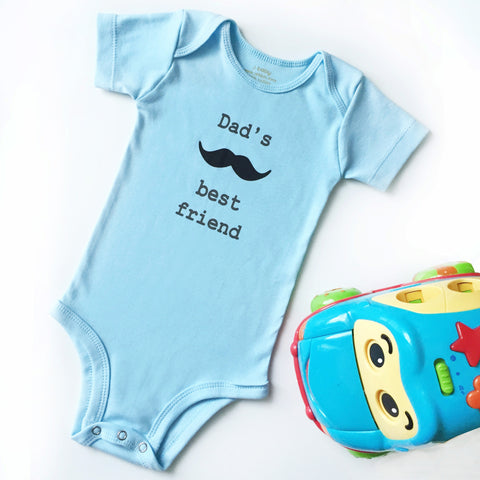 Baju Bayi J baby Bodysuit Dad's Best Friend Biru