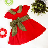 Green Big Bow Red Dress