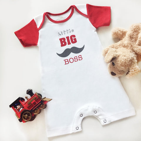 Baju Bayi Romper Little Big Boss