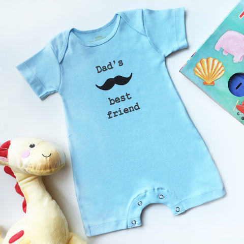 J baby Baju Bayi Romper Dad's Best Friend Biru