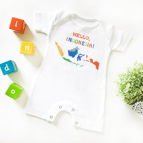 Romper Hello Indonesia 0-3m