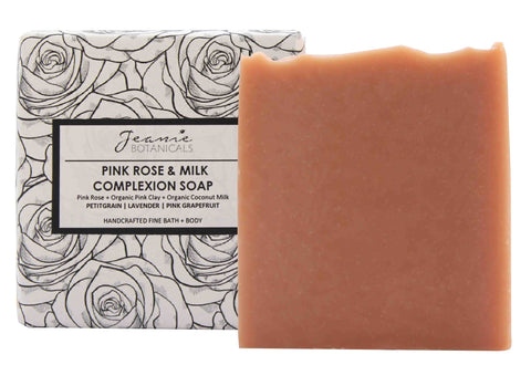 Pink Rose & Milk Complexion Soap Bar (petitgrain/lavender/pink grapefruit)