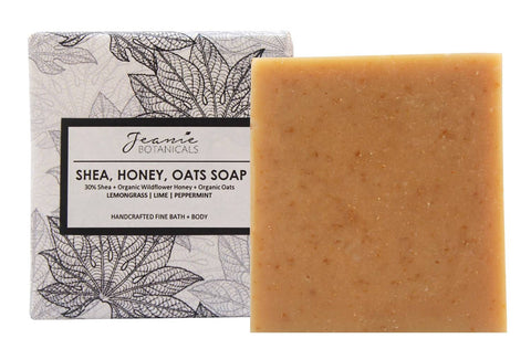 Milk, Honey, Oats Soap Bar (lemongrass/lime/peppermint)