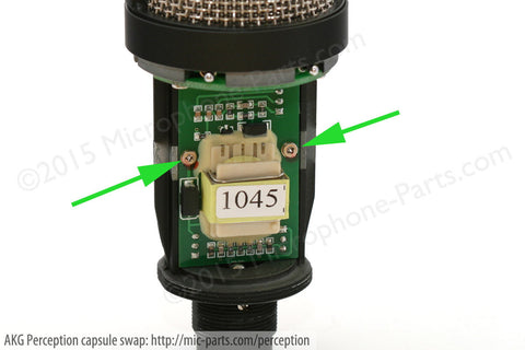 akg perception capsule swap tutorial \u2013 microphone parts comlocate the circuit board with the transformer on it (labelled \