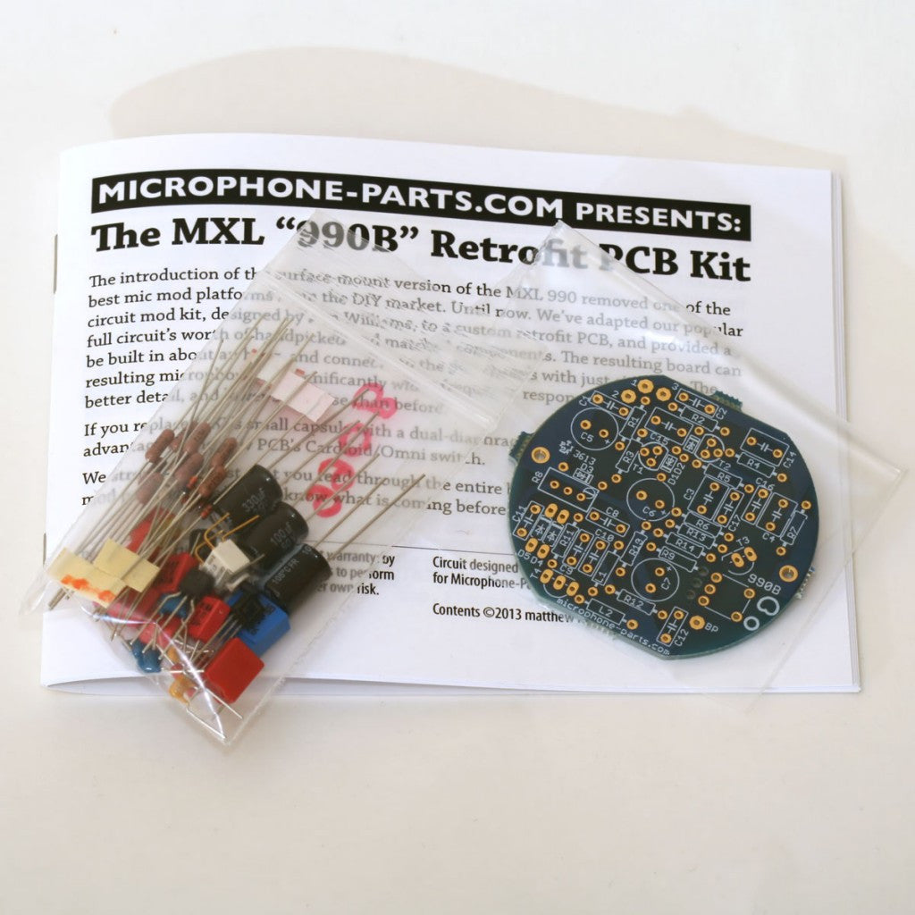 Mxl 990 Circuit Mod Kit Pcb Replacement Design Reproduce Sound Signals Captured Through A Microphone