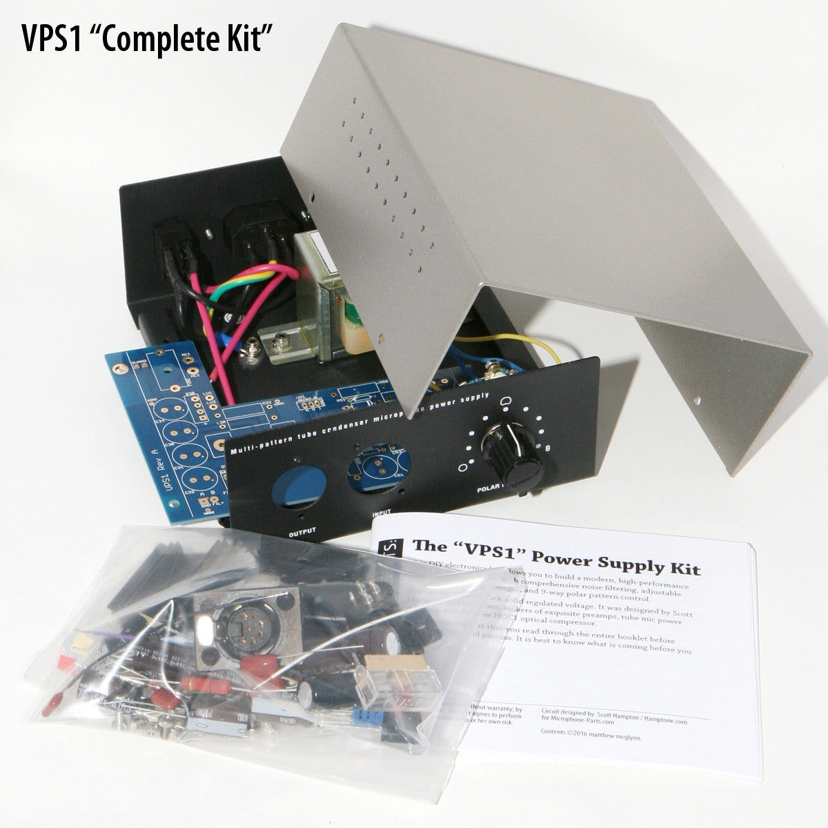 Vps1 Tube Mic Power Supply Kit Variable Voltage Regulator Circuit Is Designed To