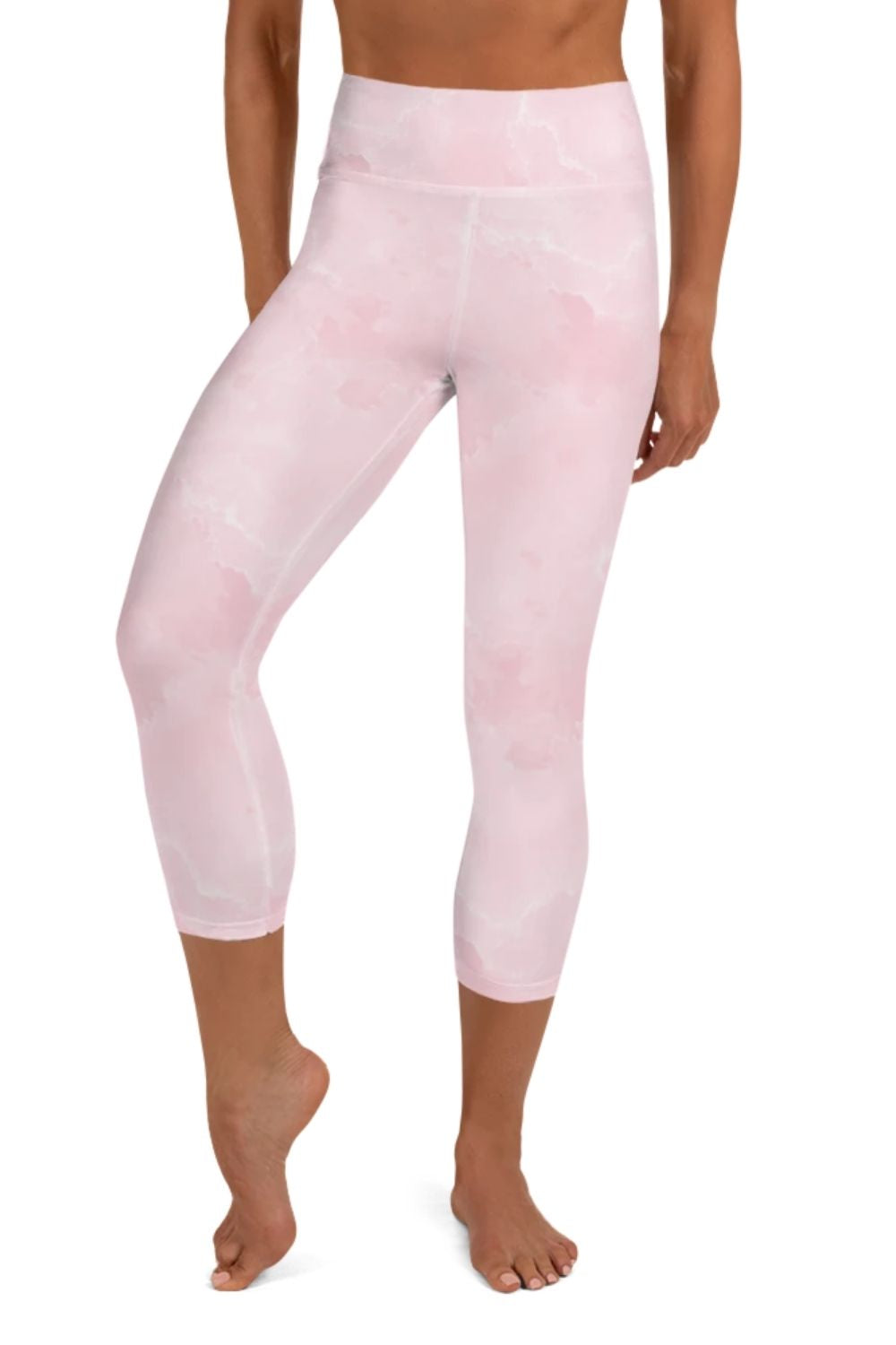 Pink Wash 3/4 Leggings
