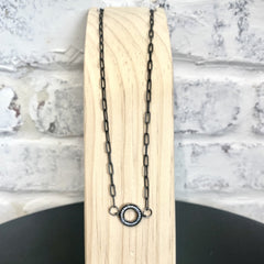 Black Circle Chain Necklace