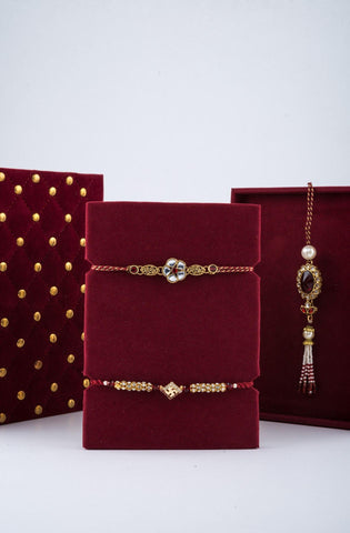 Royalé Cherry Rakhi Gift Box - Minimal