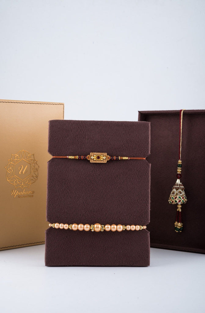Luxur̩ Tan Rakhi Gift Box - Highline , Rakhi Gift Box - Upaḥra, Send Rakhi Online USA India | Online Rakhi | Free Shipping  - 4