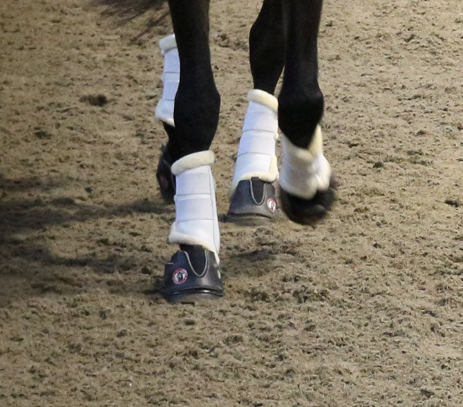 Equine Fusion's Active Jogging Shoes- flexible and elastic rubber for maximum hoof to sole contact.