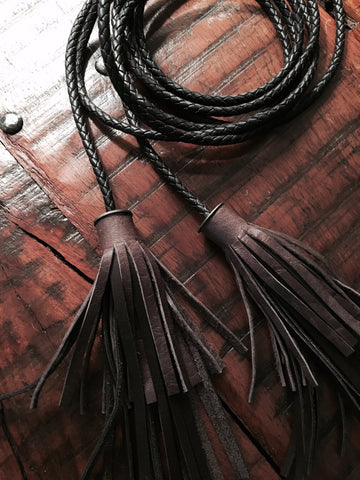 Leather Tassel Belt
