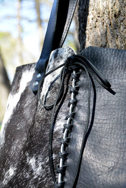 Cowhide and Leather Tote