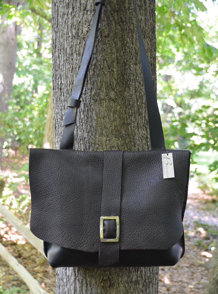 Two-Toned Leather Cross body Purse