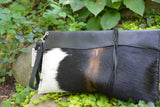 Black and White Cowhide Clutch