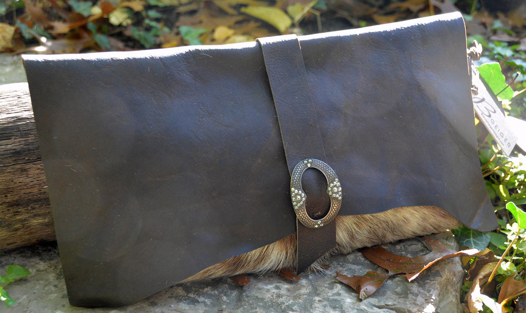 Natural Cowhide Clutch