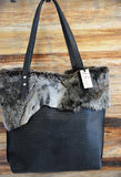 Shearling and Leather Tote