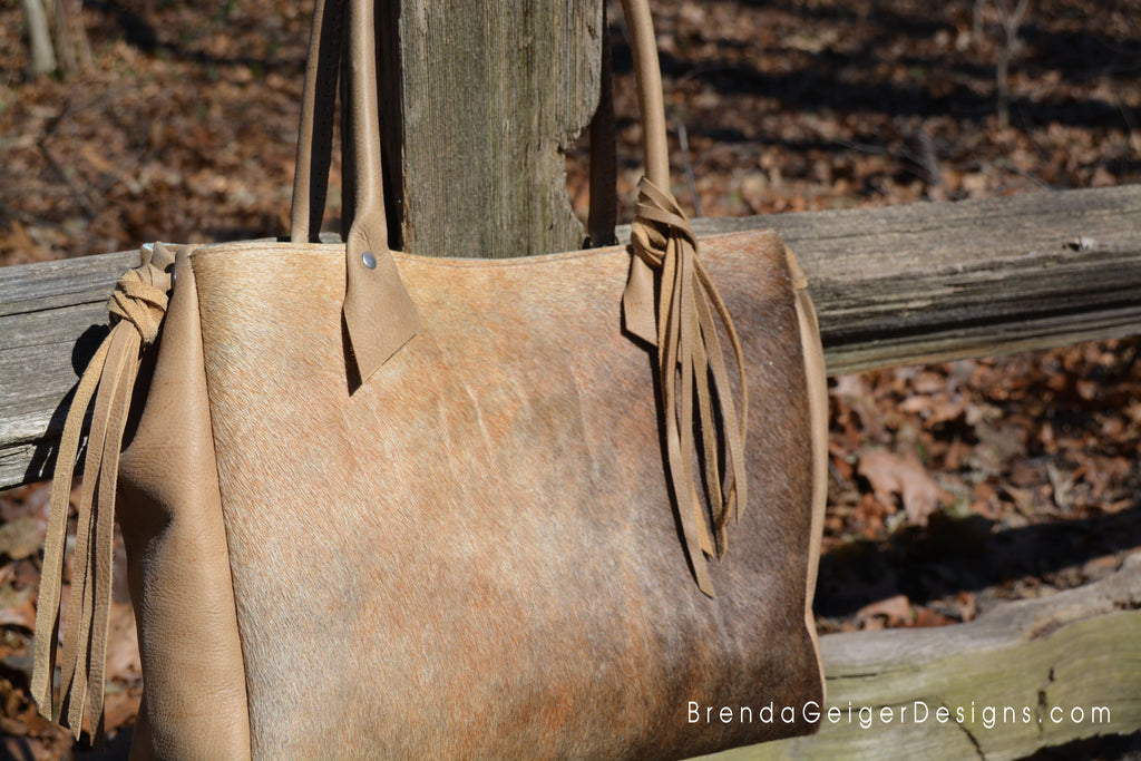 Casual Cowhide Tote
