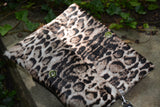 Snow Leopard Print Clutch