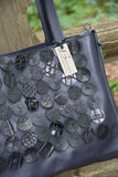 Classic Tote with Leather Die Cut Circles