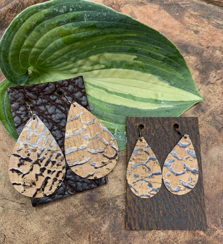 Textured Cork Earrings