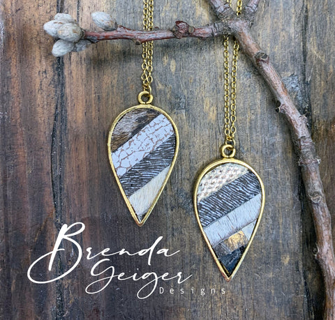 Inverted Teardrop Pendant Necklace