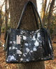Black and Silver Metallic Cowhide Tote