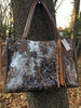 Brown Metallic Acid washed cowhide tote